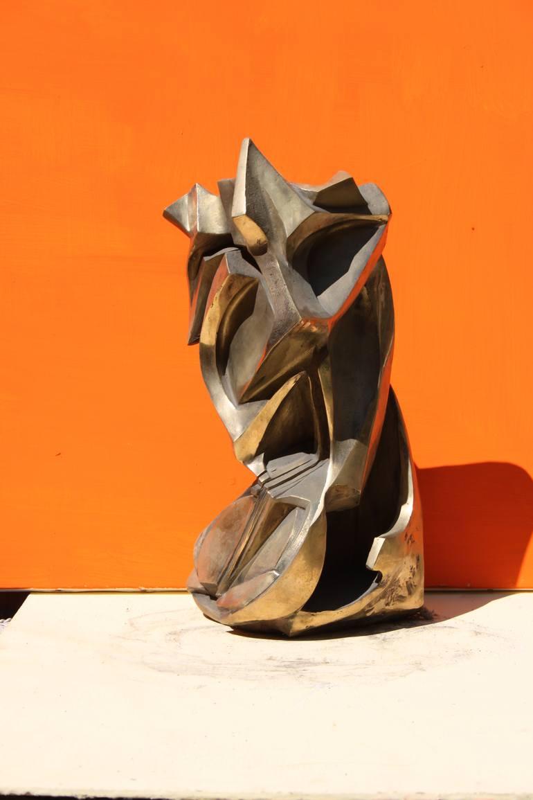 Testa Virile - scultura in bronzo - altezza 50 centimetri - 2012